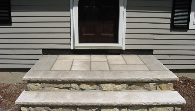 Sydney Natural Stone Veneer With Limestone Treads